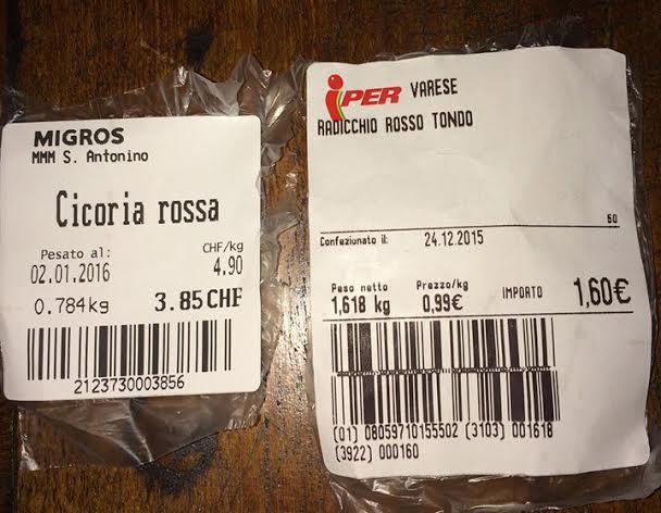 Prezzi Cicoria