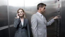 Con uno sconosciuto in ascensore