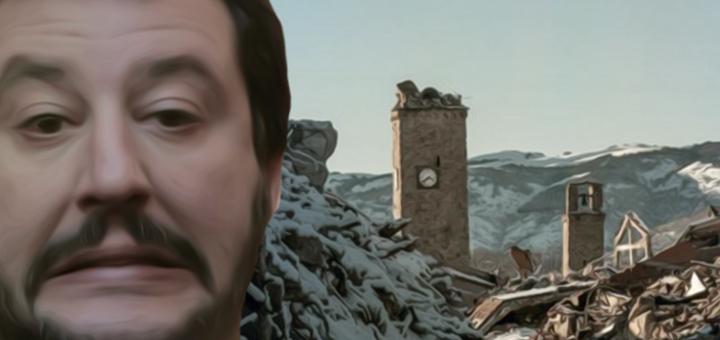 Salvini terremoto abbruzzo