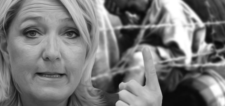 Marine le Pen prigionieri lager