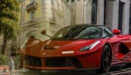 Ferrari e fontane a Lugano