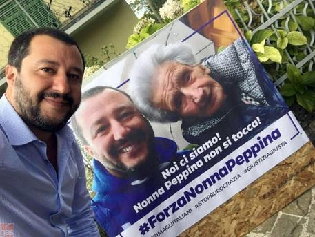 Terremoto: Salvini fa visita a Peppina
