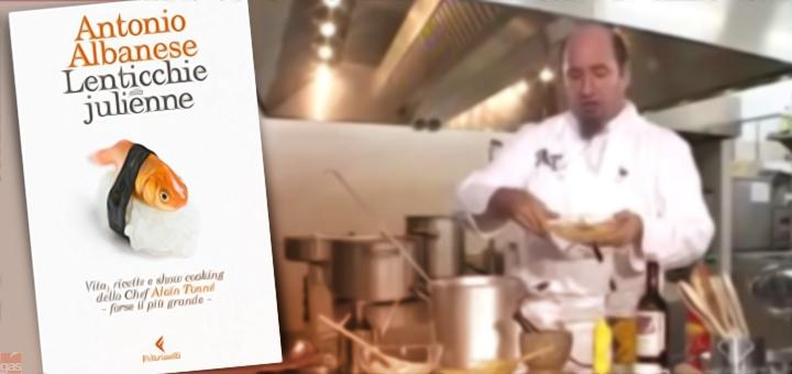 """""""Lenticchie alla Julienne"""", lo sberleffo di Albanese agli chef in TV"""