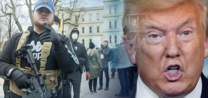 trump manifestanti