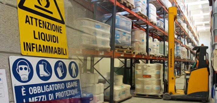 stoccaggio merci pericolose