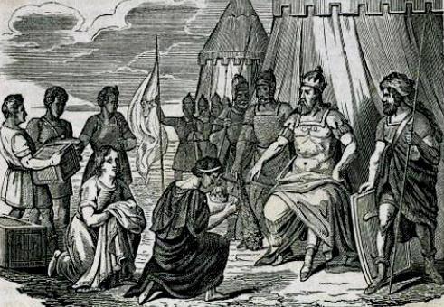 Odoacre-riceve-Romolo-Augustolo
