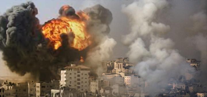 israele-bombardamenti